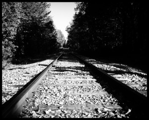 Eerie tracks in the middle of Durham, NC